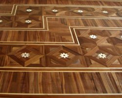 Mahogany maple floor