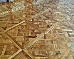 Walnut tiles - walnut, oak, maple, padouk border