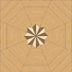 Back Oak, Maple - Walnut inlay