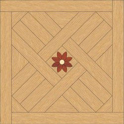 Back Oak, Padouk - Maple inlay